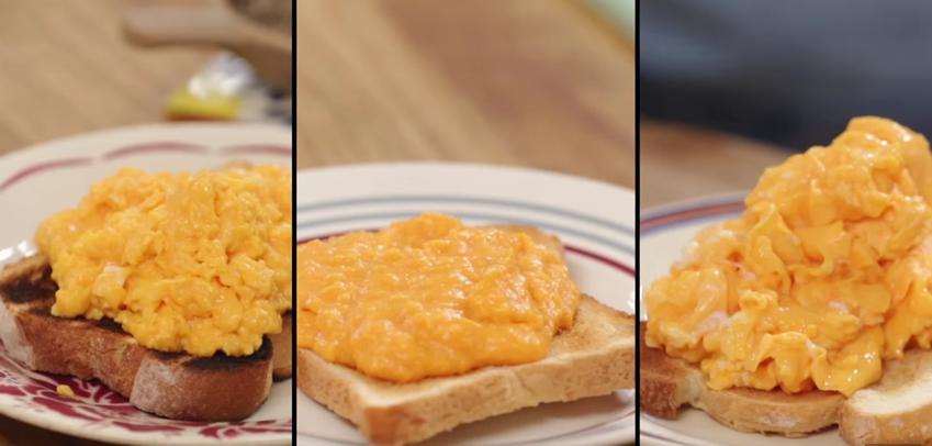 hrærð egg scrambled eggs