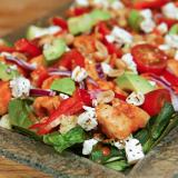 Eitt besta salat sem þú færð – Satay kjúklingasalat með kúskús