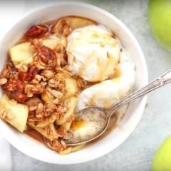 Dásamleg hafra og karamellu eplabaka – vegan og glútenfrí